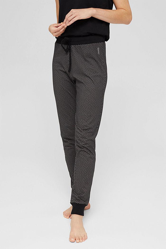 Jersey pyjamabroek van 100% biologisch katoen, BLACK, detail image number 5