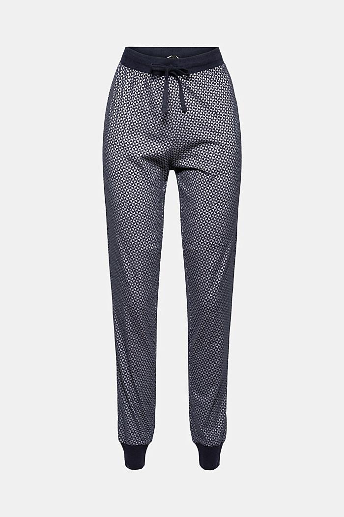 Jersey pyjamabroek van 100% biologisch katoen, NAVY, detail image number 6