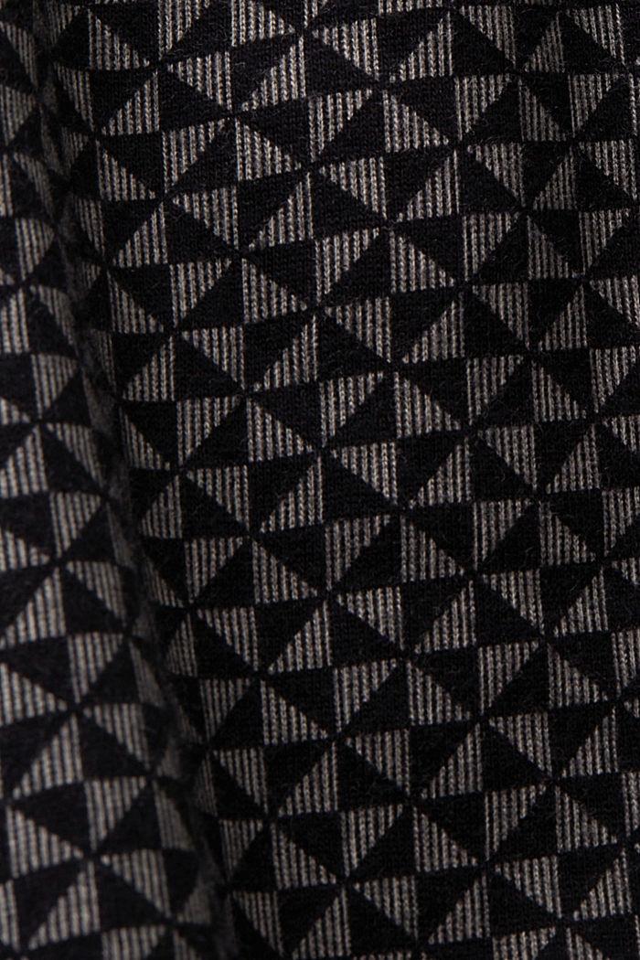 Kuviolliset pyjamashortsit 100 % luomupuuvillaa, BLACK, detail image number 4