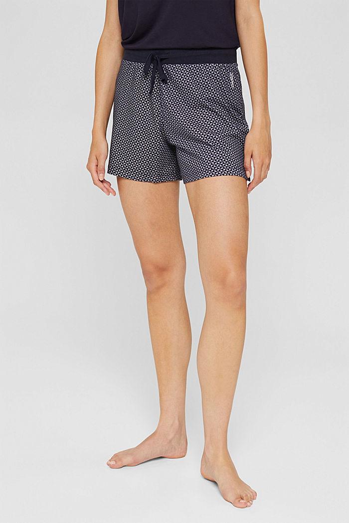 Gemusterte Pyjama-Shorts aus 100% Bio-Baumwolle