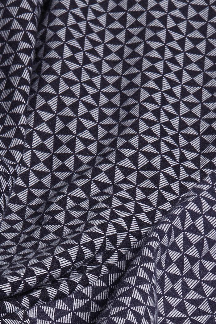 Short de pyjama à motif en 100% coton biologique, NAVY, detail image number 4