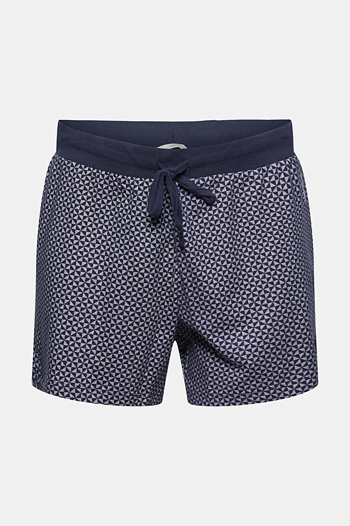 Pantaloncini da pigiama a fantasia in 100% cotone biologico