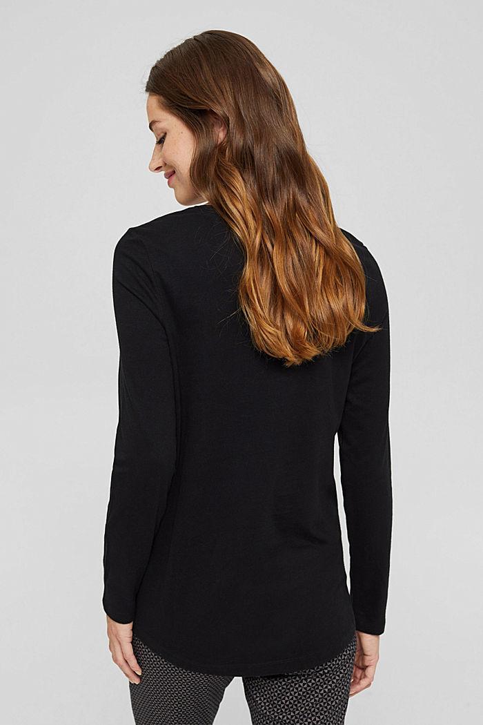 Pyjamashirt van 100% biologisch katoen, BLACK, detail image number 2