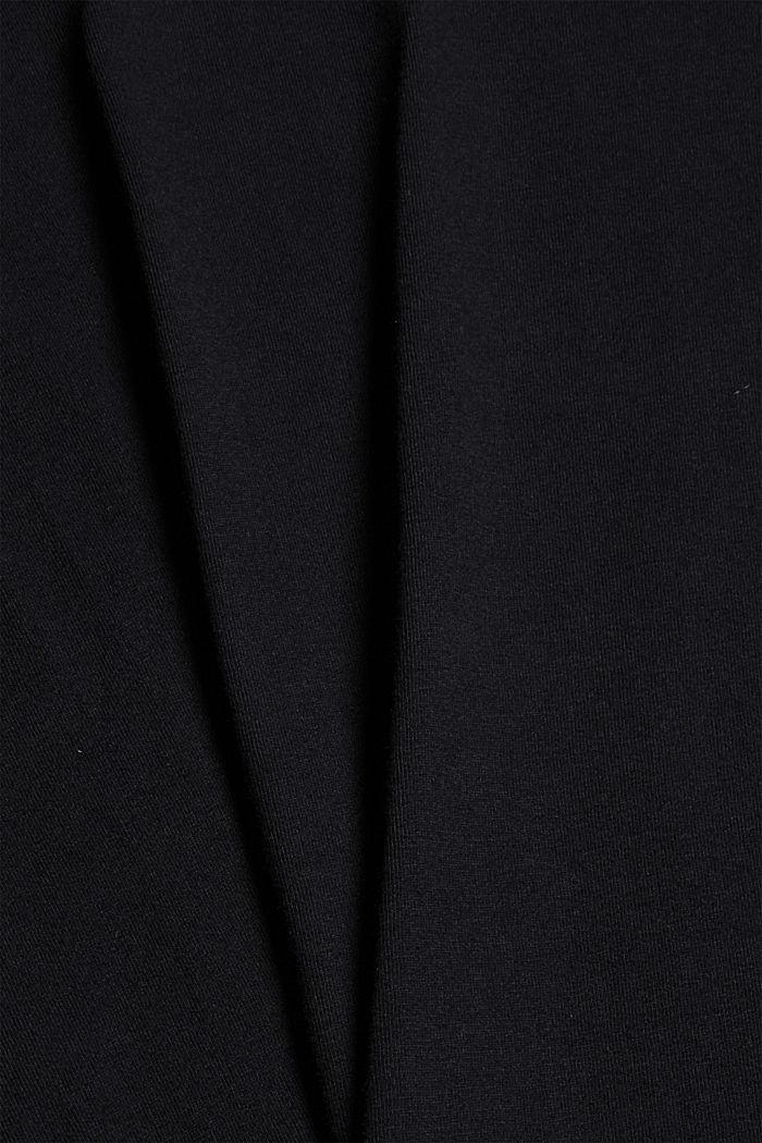 Pyjamashirt van 100% biologisch katoen, BLACK, detail image number 4