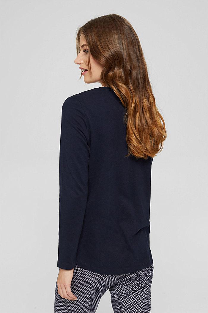 Pyjama top made of 100% organic cotton, NAVY, detail image number 2