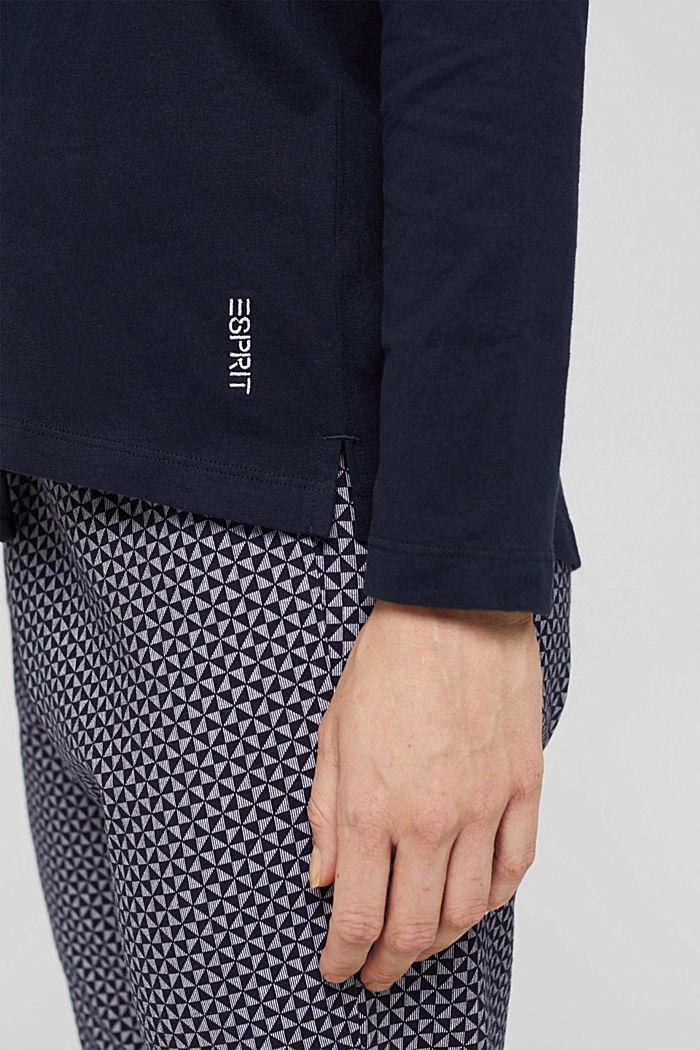 Pyjama top made of 100% organic cotton, NAVY, detail image number 3