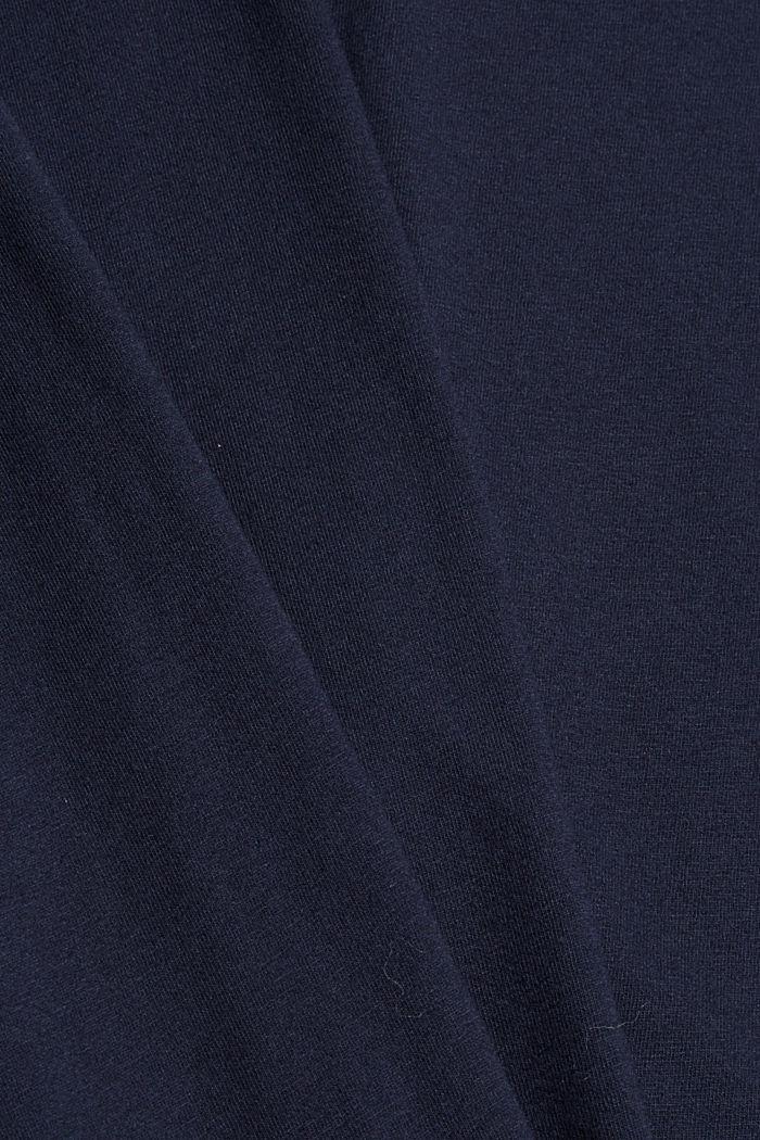 Pyjama top made of 100% organic cotton, NAVY, detail image number 4