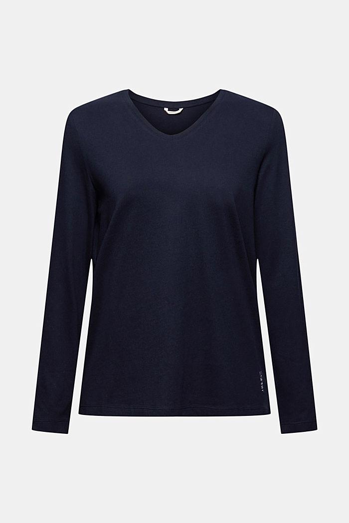 Pyjama top made of 100% organic cotton, NAVY, detail image number 5