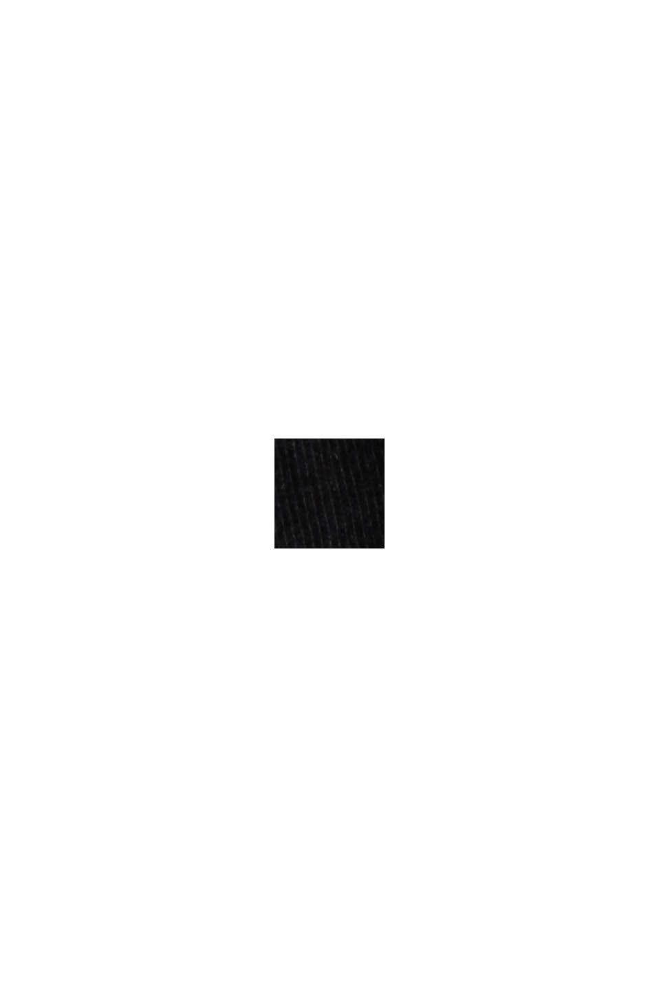 Maglia da pigiama vellutata, 100% cotone biologico, BLACK, swatch