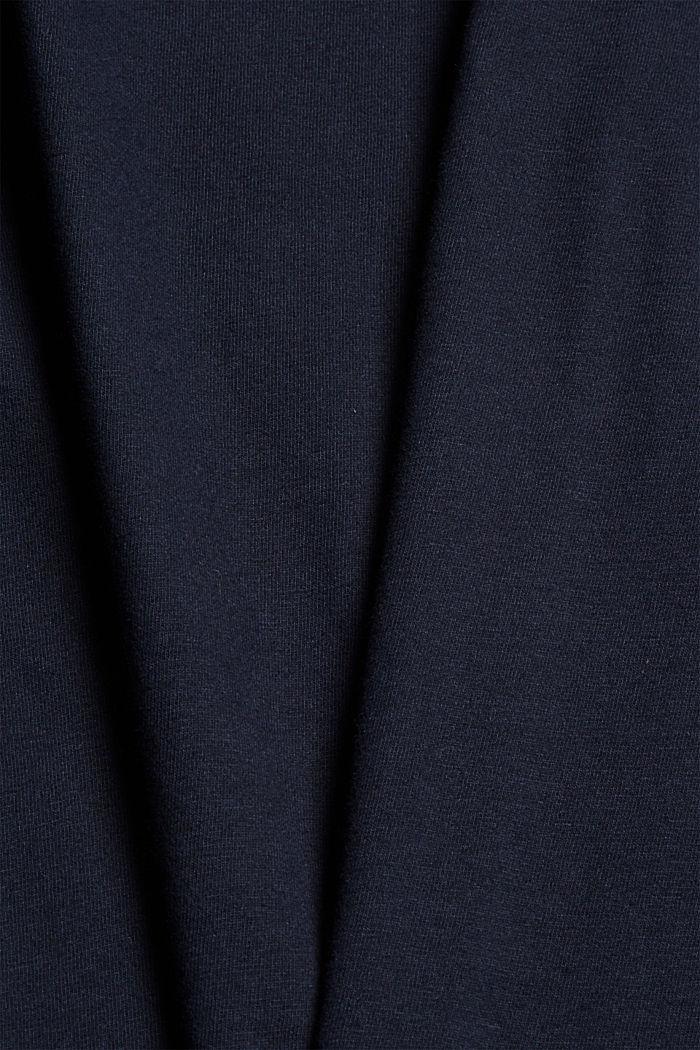 Haut de pyjama velouté, 100% coton biologique, NAVY, detail image number 4