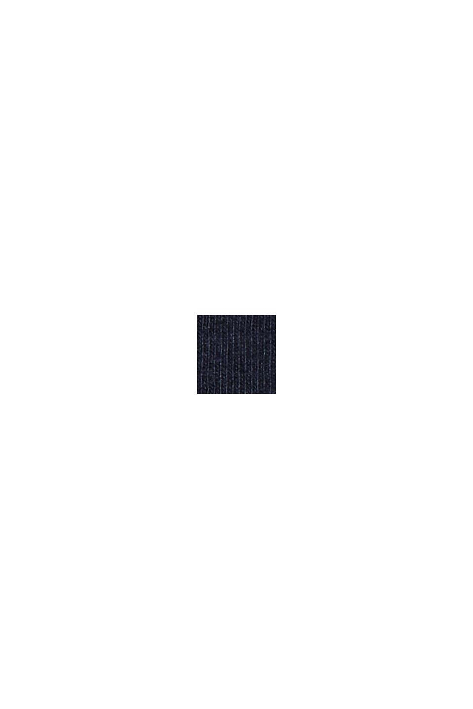 Maglia da pigiama vellutata, 100% cotone biologico, NAVY, swatch