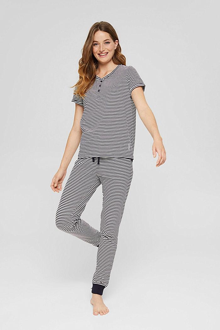 Pyjamas-overdel i 100% økobomuld