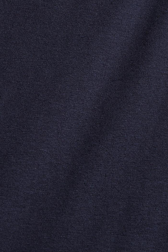 Pyjama 100 % luomupuuvillaa, kauluskäänteet, NAVY, detail image number 4