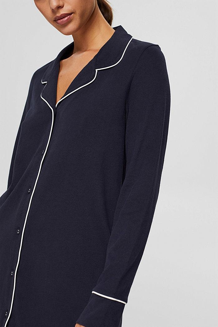 Nachthemd met reverskraag, 100% biologisch katoen