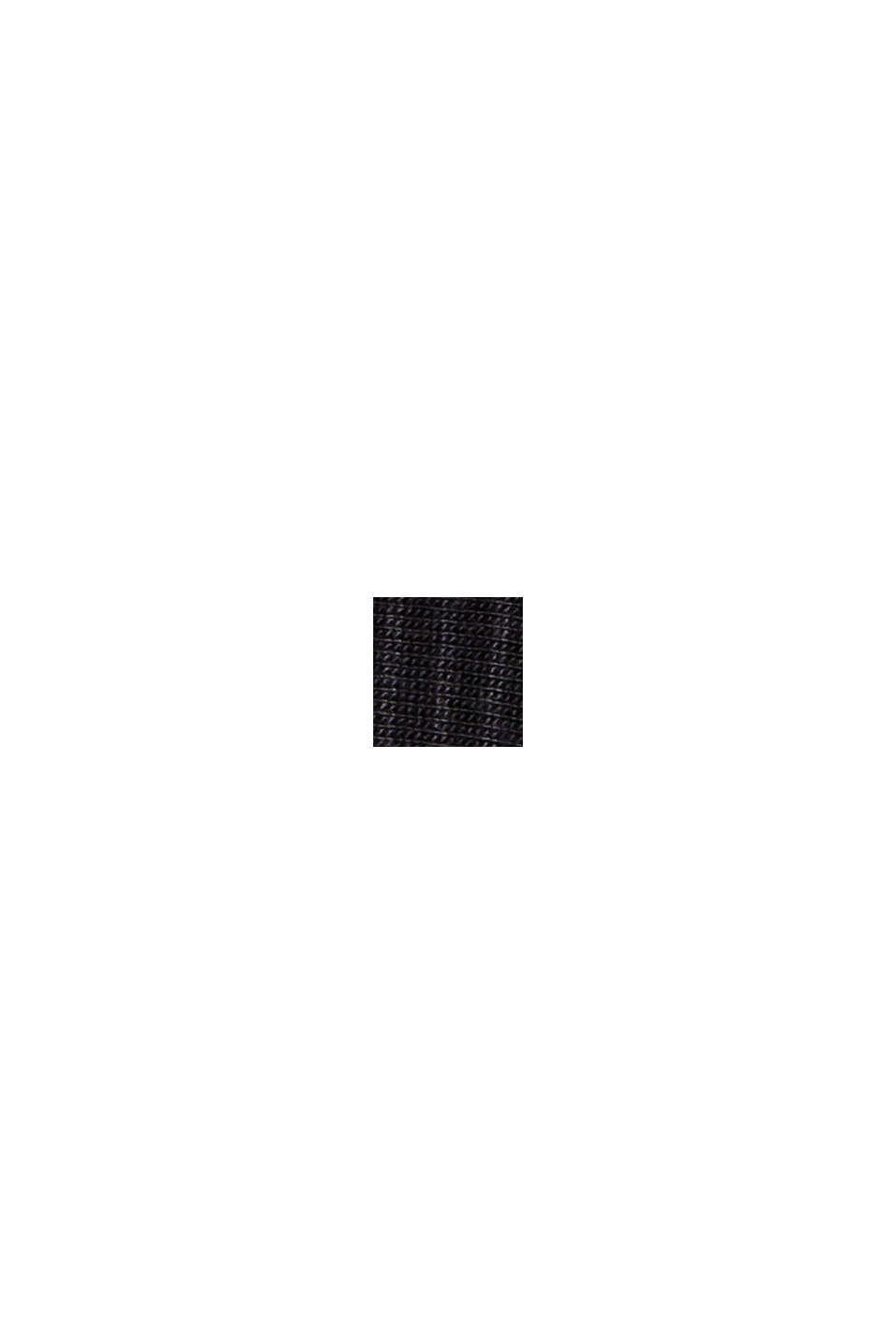 Gestreifter Jersey-Pyjama, LENZING™ ECOVERO™, BLACK, swatch