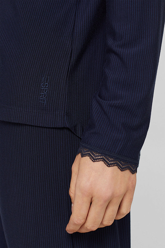 Pyjama rayé en jersey, LENZING™ ECOVERO™, NAVY, detail image number 2