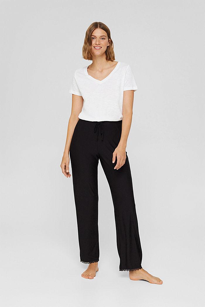 Pantaloni da pigiama con pizzo, LENZING™ ECOVERO™
