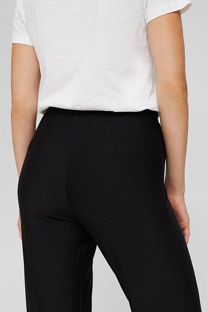 Pyjama bottoms with lace, LENZING™ ECOVERO™, BLACK, detail image number 2