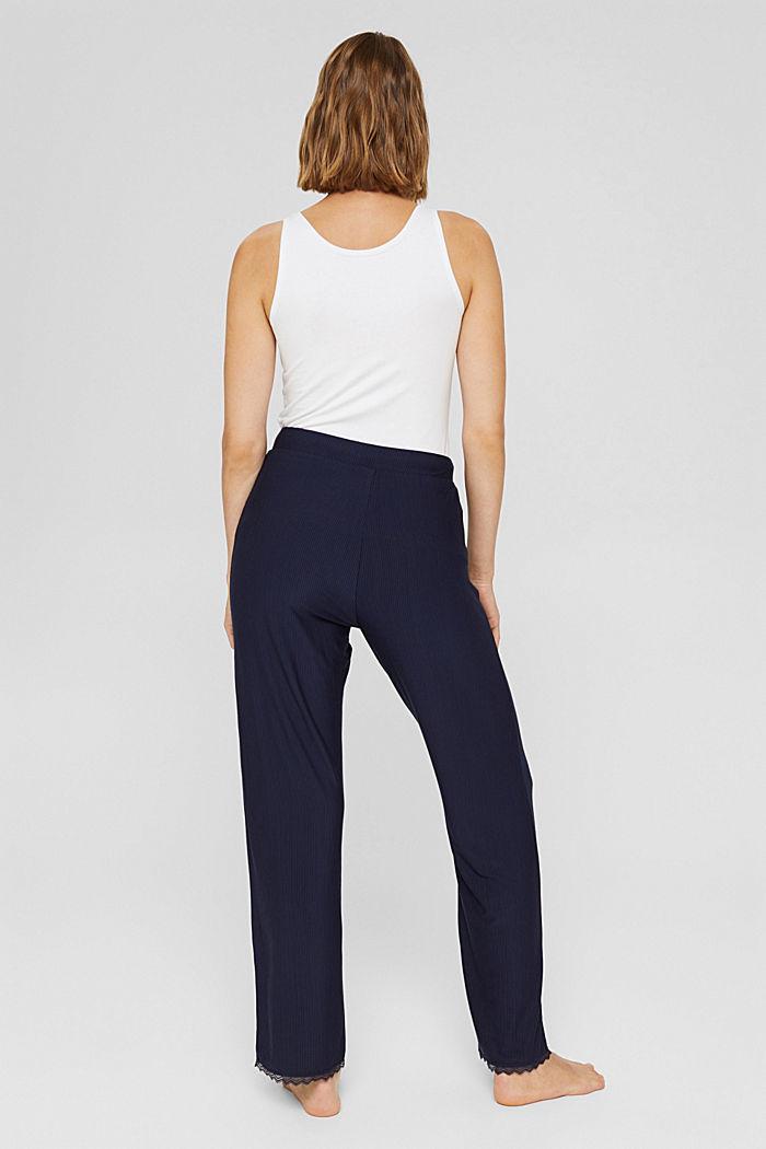 Pantaloni da pigiama con pizzo, LENZING™ ECOVERO™, NAVY, detail image number 3