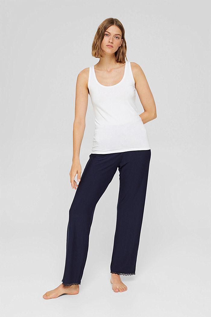 Pantaloni da pigiama con pizzo, LENZING™ ECOVERO™, NAVY, detail image number 1