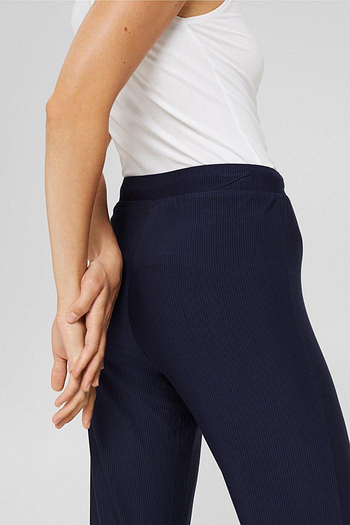 Pantaloni da pigiama con pizzo, LENZING™ ECOVERO™, NAVY, detail image number 2