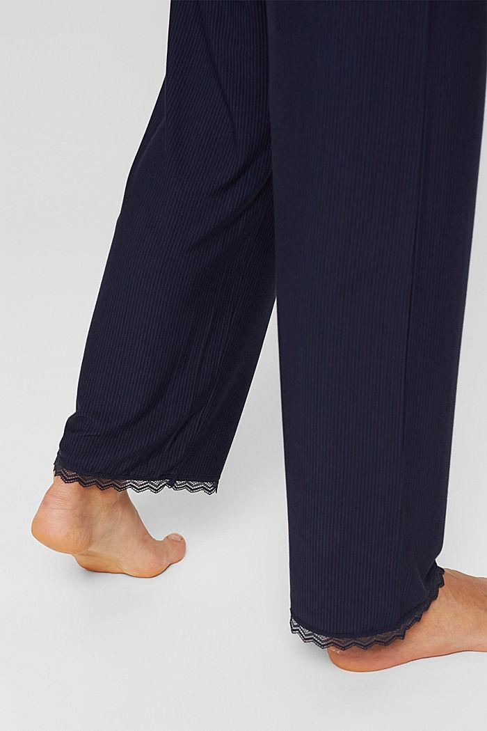 Pantaloni da pigiama con pizzo, LENZING™ ECOVERO™, NAVY, detail image number 5