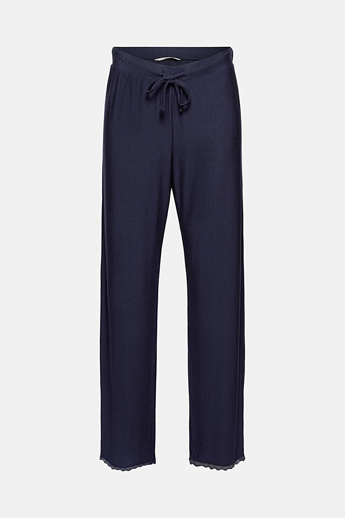 Pantaloni da pigiama con pizzo, LENZING™ ECOVERO™, NAVY, detail image number 6
