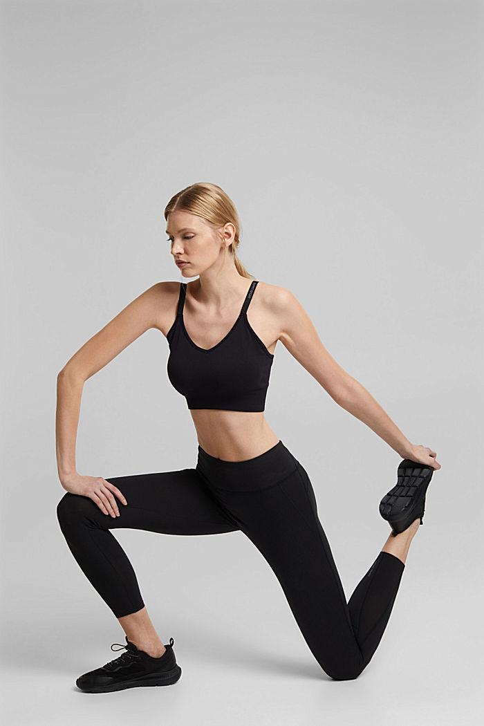 Recycelt: Active-Leggings mit E-Dry, BLACK, detail image number 6