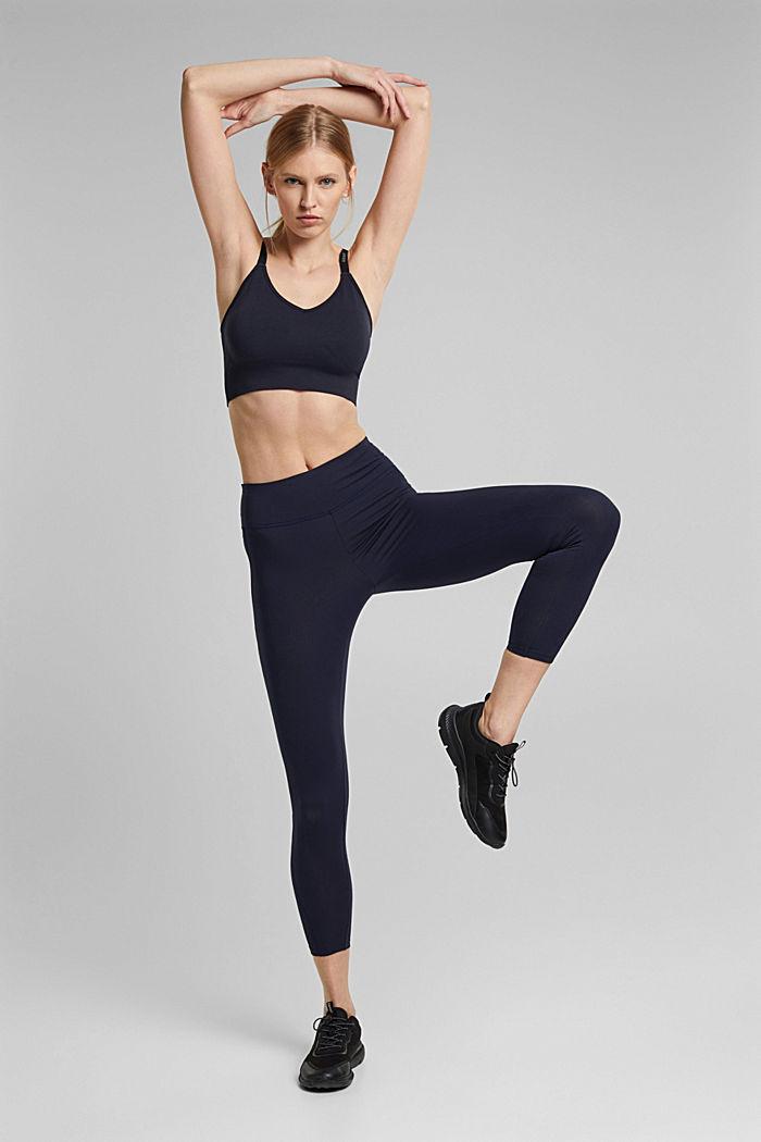 Kierrätettyä: Tekniset leggingsit, E-Dry, NAVY, detail image number 1