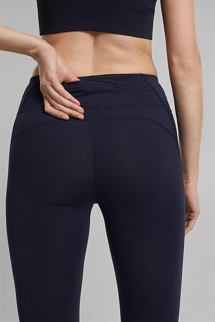 Kierrätettyä: Tekniset leggingsit, E-Dry, NAVY, detail image number 2