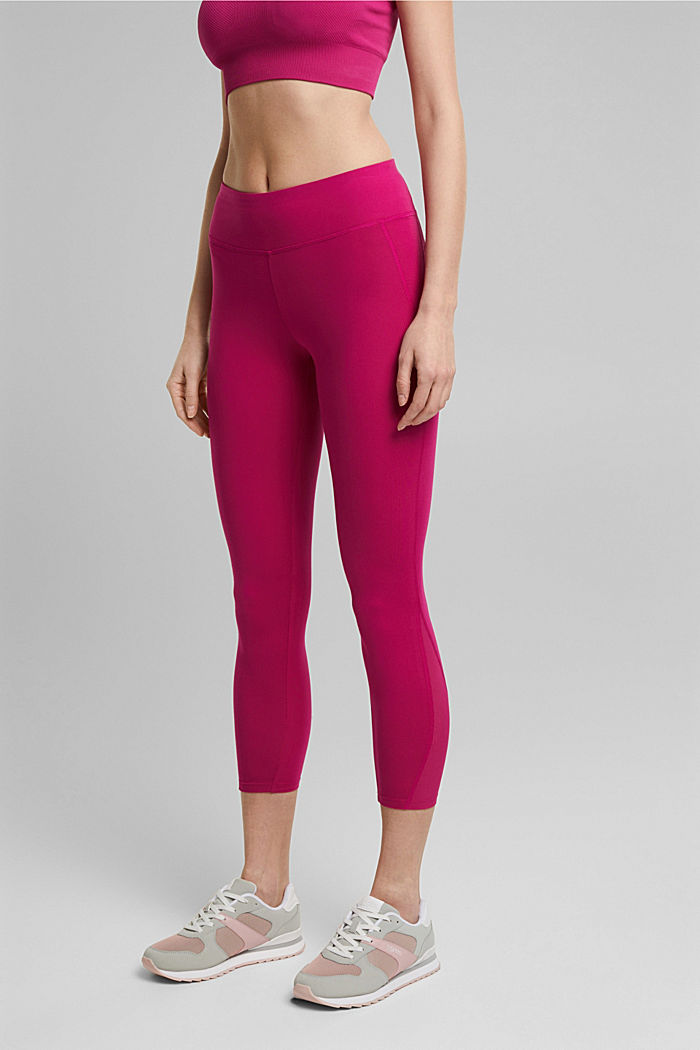 Recycelt: Active-Leggings mit E-Dry, BERRY RED, detail image number 0