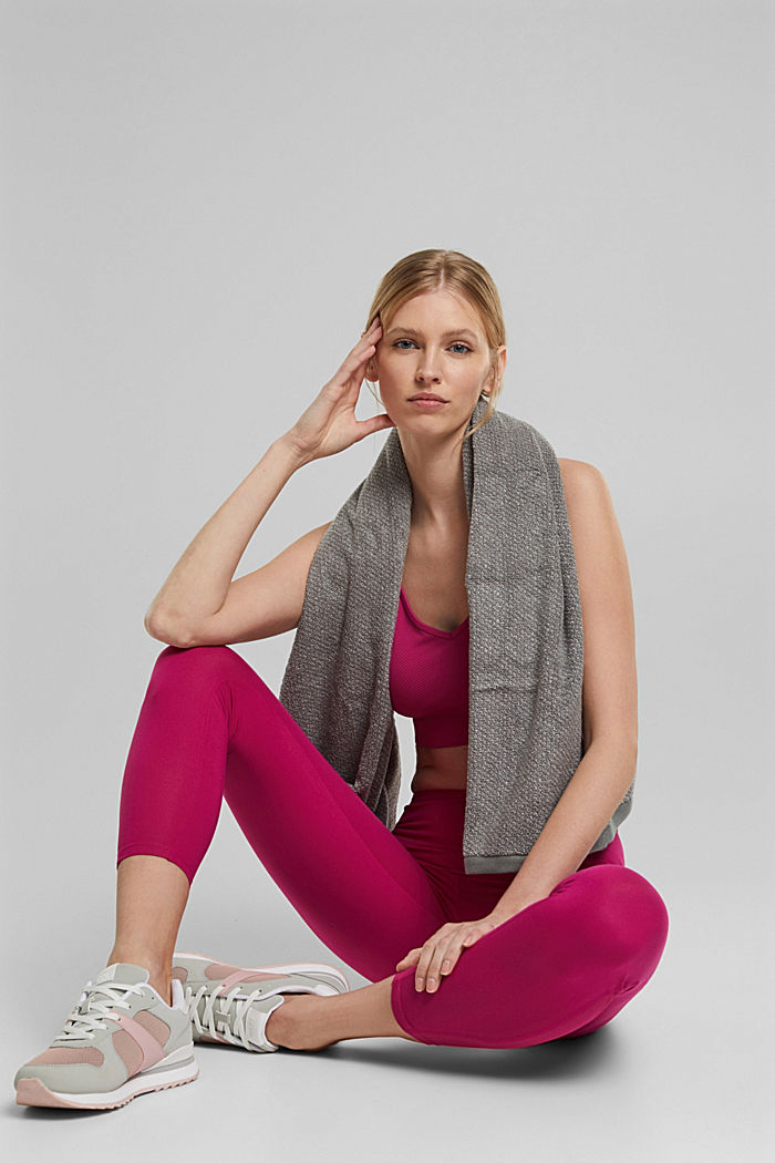 Recycelt: Active-Leggings mit E-Dry, BERRY RED, detail image number 6
