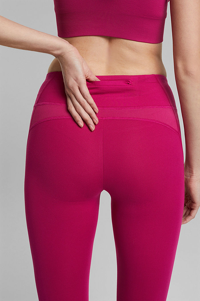 Recycelt: Active-Leggings mit E-Dry, BERRY RED, detail image number 5