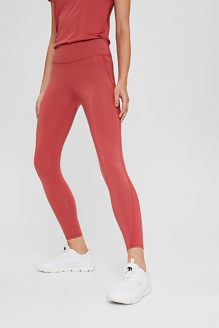 Recycelt: Active-Leggings mit E-Dry, BLUSH, detail image number 0