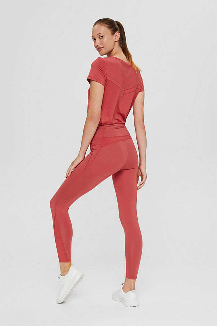 Recycelt: Active-Leggings mit E-Dry, BLUSH, detail image number 3