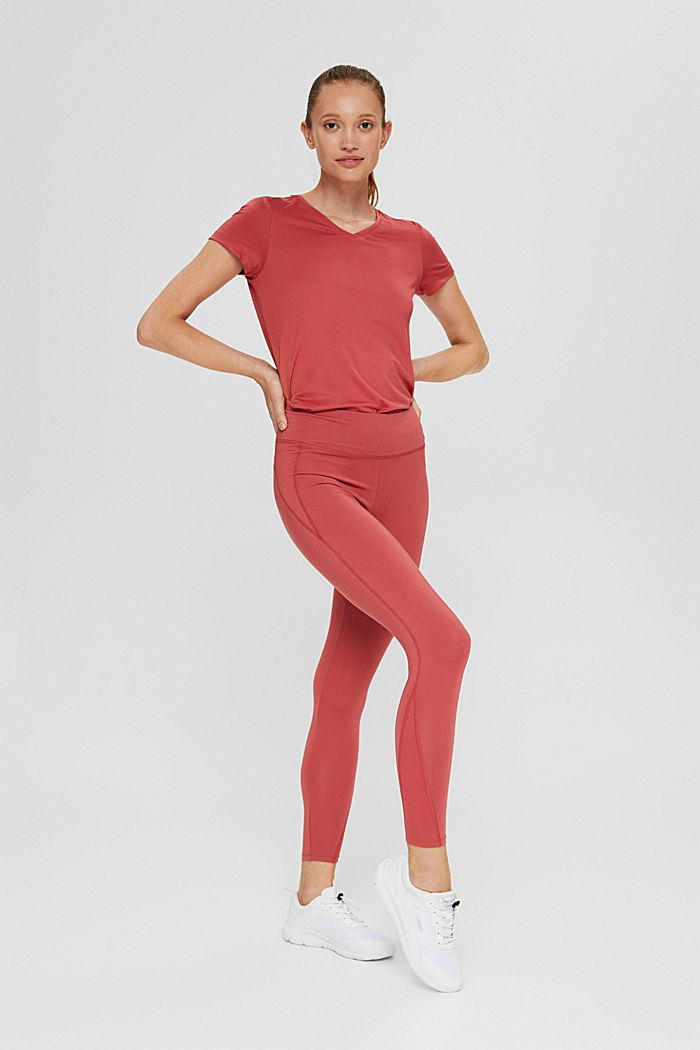 Recycelt: Active-Leggings mit E-Dry, BLUSH, detail image number 1