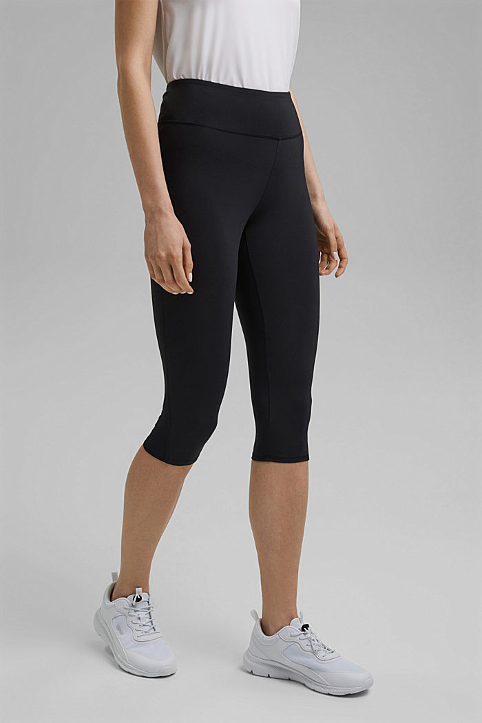 Recycelt: Active-Leggings mit E-Dry, BLACK, detail image number 0