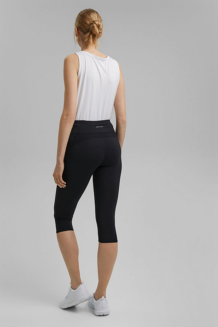 Recycelt: Active-Leggings mit E-Dry, BLACK, detail image number 3