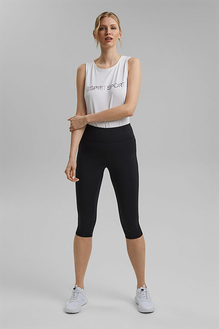 Recycelt: Active-Leggings mit E-Dry, BLACK, detail image number 1
