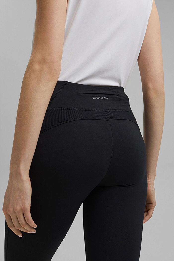Recycelt: Active-Leggings mit E-Dry, BLACK, detail image number 2