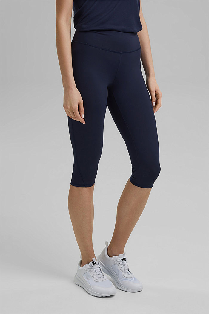 Recycelt: Active-Leggings mit E-Dry, NAVY, detail image number 0