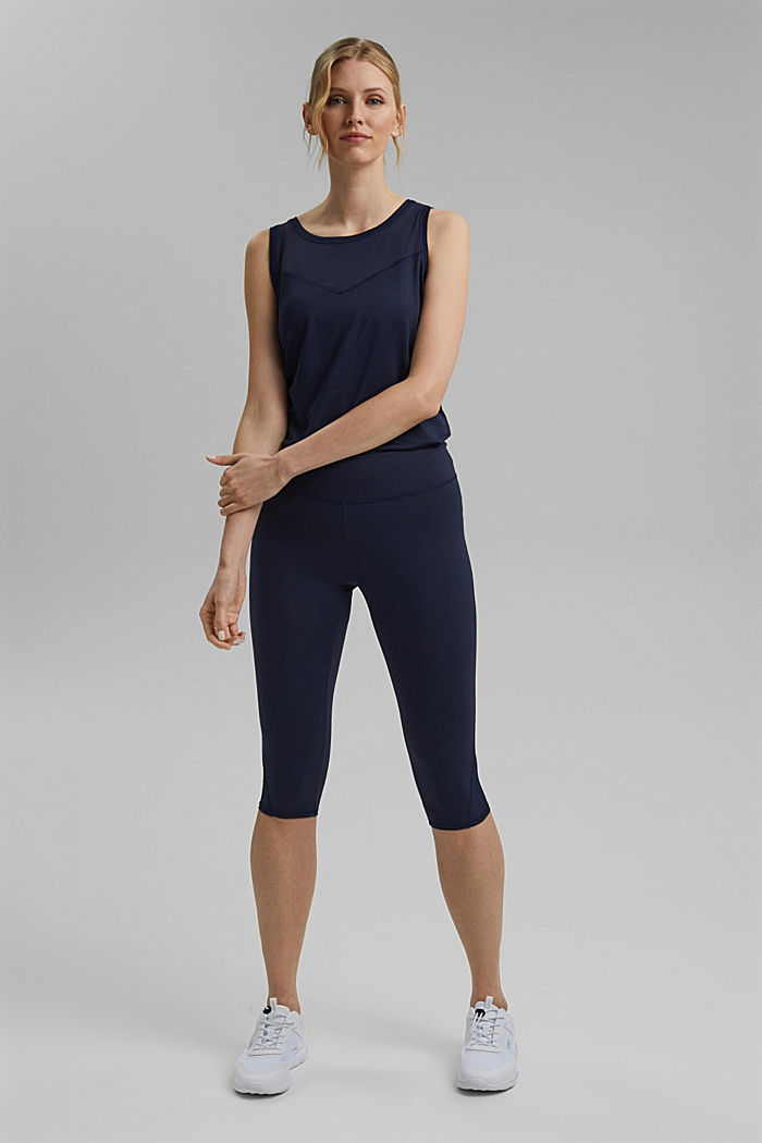 Recycelt: Active-Leggings mit E-Dry, NAVY, detail image number 1