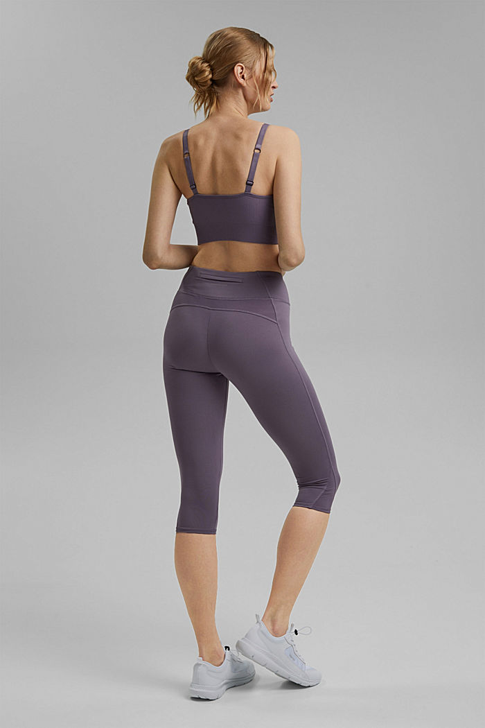Recycled: high-performance leggings with an E-DRY finish, MAUVE, detail image number 3