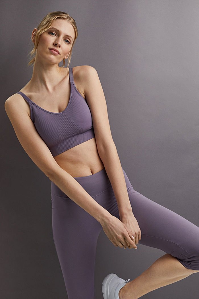 Recycled: high-performance leggings with an E-DRY finish, MAUVE, detail image number 5