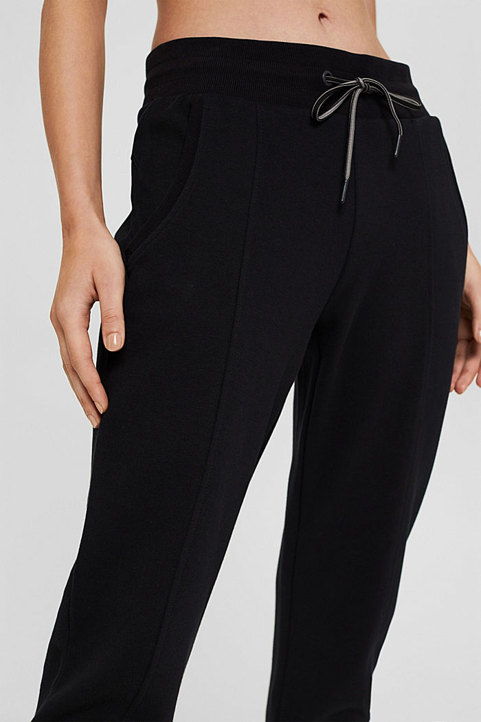 Pantaloni da jogging in misto cotone biologico, BLACK, detail image number 2