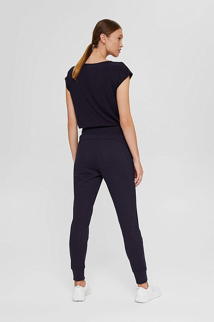Pantaloni da jogging in misto cotone biologico, NAVY, detail image number 3