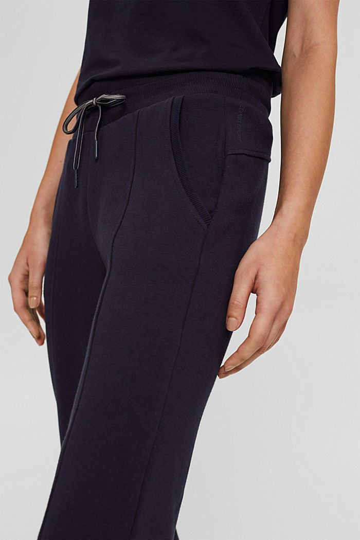 Pantaloni da jogging in misto cotone biologico, NAVY, detail image number 2