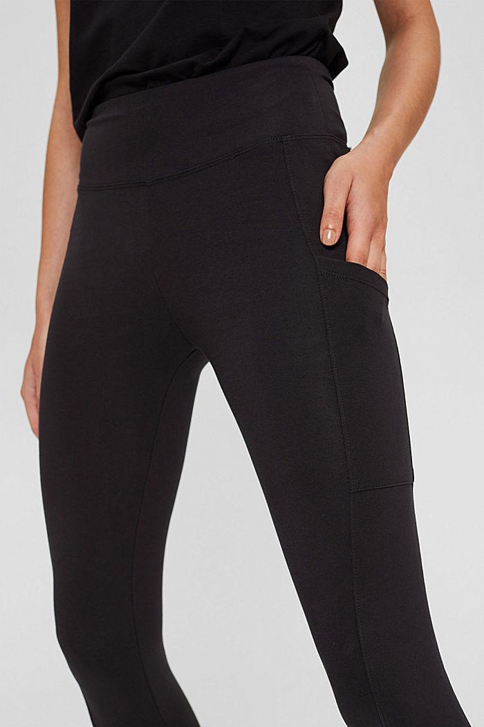 Leggings in cotone biologico, BLACK, detail image number 2