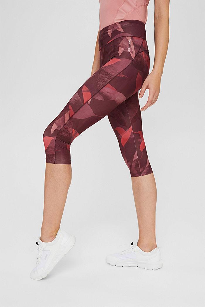Gerecycled: active legging met print en E-DRY-finish