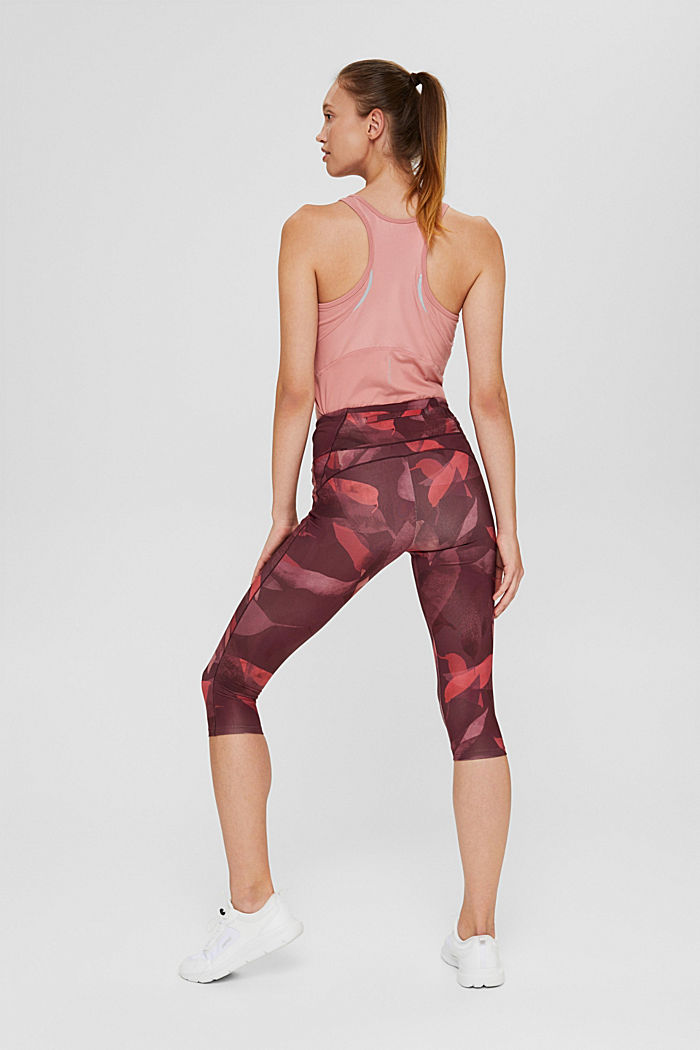 Recycled: high-performance leggings with a print, E-DRY, BLUSH, detail image number 3